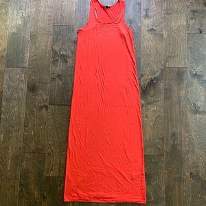 Forever 21 Orange Knit Racerback Maxi Dress